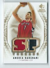 2008-09 SP Rookie Threads Andrea Bargnani DUAL GU JERSEY / PATCH RELIC RAPTORS