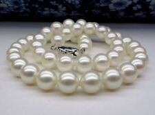 "JAPANESE AKOYA PEARL NECKLACE 9-10mm White 17.5"" AAAA+"