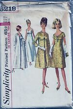 Simplicity Sewing Pattern 6219 Coat and Dress in Two Lengths Dress SZ 12 1960's