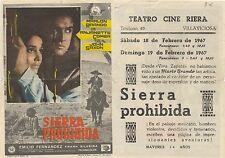 Programa PUBLICITARIO de CINE: SIERRA PROHIBIDA.