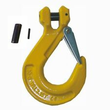 Clevis Sling Hooks 10mm with Safety Catch - Lifting Chain hook 3.15 ton
