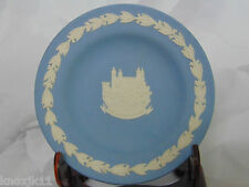 Wedgwood Blue Jasperware TOWER OF LONDON PLATE Trinket Ring Dish Made England
