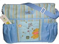 Disney Winnie Pooh Regent Baby Product Corp BLUE Diaper Bag TRAVEL BOTTLE BAG