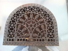 Antique Cast Iron Arch Top Dome Heat Grate Wall Register NICE WORKING CONDITION!
