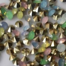 100pcs4mm High quality Mix Crystal beads Point back Rhinestones Resin Chatons