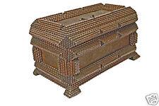 Antique Tramp Art Box, Flemish.
