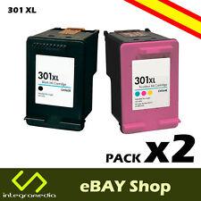 2 Cartuchos Compatibles 301 XL  Negro y Color para impresoras HP Deskjet 3050