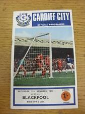 31/01/1970 Cardiff City v Blackpool  . Item in very good condition, unless state