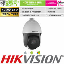 Ptz Cámara Ip Hikvision 2 Mp 1080p 4.7-94mm 20x Zoom 360 ° Poe ONVIF ds-2de5220-ae