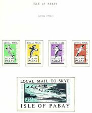 ENGLAND LOCAL STAMPS ISLE OF PABAY   4 ST. +  BL.  1964  EUROPA  **  MNH IMPERF