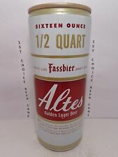 ALTES GOLDEN LAGER 16oz FORGED STEEL PULL TAB BEER CAN #138-8-B  BALTIMORE, MD.