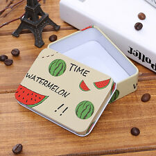 Mini Tin Metal Container Small Rectangle Lovely Storage Box Case D Y5 Xmas