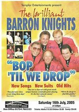 Genuine Hand Signed Autographed Theatre leaflet - Barron Knights 4 Signatures