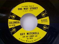 "GUY MITCHELL ""(I'M WALKIN DOWN A) ONE WAY STREET / THE LORD MADE A PEANUT"" MINT"