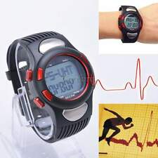 3D Sports Fitness Pulse Heart Rate Monitor Watch With Pedometer Calories Counter