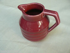PICHET FAIENCE CERAMIQUE  ONNAING BARBOTINE ART DECO 1930 VINTAGE ROUGE DESIGN