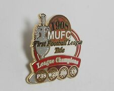 MANCHESTER UNITED FC - VICTORY PIN 1908 LEAGUE CHAMPIONS + RECORD CARD -