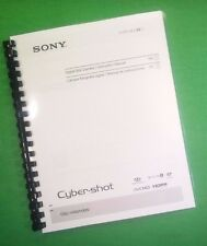 COLOR PRINTED Sony Camera Cyber-Shot DSC HX9 HX9V Manual Guide 64 Pages