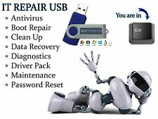 IT Computer Repair Antivirus Restore Password Reset Drivers Bootable Thumb Drive