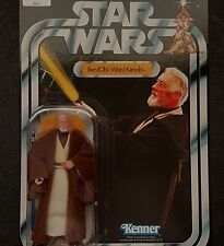 Star Wars Vintage Kenner Retro VOTC Obi Wan Kenobi Safety Text Variant MOC &Case