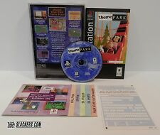 THEME PARK (Sony PlayStation 1 1995) COMPLETE orig LongBox PS1 Amusement SIMS