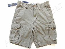 New Ralph Lauren Polo 100% Cotton Faded Army green Chino Cargo Shorts size 31