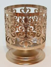 BATH & BODY WORKS GOLD SCROLL PEDESTAL LARGE 3 WICK CANDLE HOLDER SLEEVE 14.5 OZ
