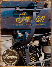 Vintage Antique 1914 Indian Motorcycle TIN SIGN metal poster garage decor 2010