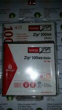 Confezione da 6 iomega zip 100MB DISCHI PC o Mac formato-fabbrica SIGILLATI