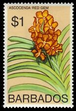 "BARBADOS 408 (SG497) - Ascocenda ""Red Gem"" Orchid 1974 Printing (pf90810)"