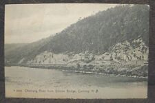 1915 ROTOGRAH POST CARD OF A CHEMUNG RIVER FROM GIBSON BRIDGE CORNING NEW YORK