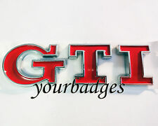 RED ABS GTI Letters Car badge VW Golf Peugeot 206 207