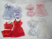BARBIE DOLL'S CLOTHING LACE LINGERIE UNDERWEAR BRA KNICKERS BABYDOLL 4 PIECE SET