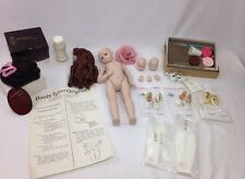 Porcelain Doll Parts Lot - A Marque, Boots Tyner 1986 + Other Brand Accessories