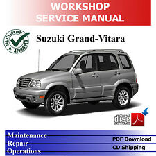 SUZUKI GRAND VITARA 1998-'05 SQ 2.0L Diesel WORKSHOP SERVICE CD-PDF MANUAL
