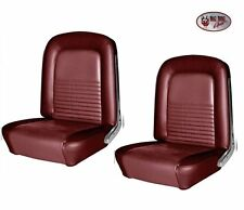 1967 Mustang Front Bucket Seat Upholstery - Red  by TMI Made in the USA!