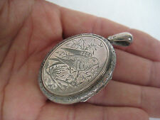 Antique Bird Silver Locket Pendant