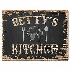 PP1705 BETTY'S KITCHEN Plate Chic Sign Home Room Kitchen Decor Birthday Gift