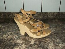 LADIES SIZE 8 KURT GEIGER PANDORA BEIGE LEATHER SANDALS