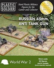 RUSSIAN 45MM ANTI TANK GUN - PLASTIC SOLDIER COMPANY - 15MM - WW2