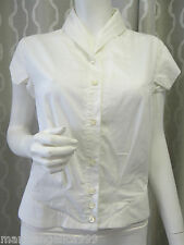 ALEXANDER MC QUEEN Designer sexy Blouse Top M white cotton Made in Italy New