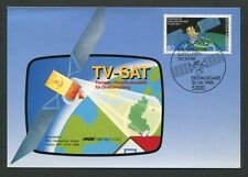 BUND MK 1986 TV-SAT SATELLIT WELTRAUM SPACE CARTE MAXIMUM CARD MC CM d7859