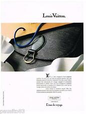 PUBLICITE ADVERTISING 095  1990  LOUIS VUITTON   collection sacs maroquinerie