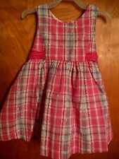 Toddler Girls Rare Editions Dressy Dress, EUC, 24M, Pinks, Lined, Easter NICE