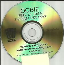 OOBIE & LIL JON & THE EAST SIDE BOYZ Nothins FREE CLEAN PROMO DJ CD Single 2002