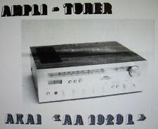 Akai AA-1020L Ampli tuner instrucciones De Servicio Inc esquemas Impreso Francais