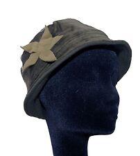 Mütze Hut aus Samt Fleecefutter Hippie Lagenlook Goa