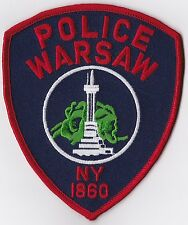 Warsaw Police Patch New York NY NEW!!