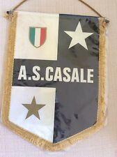 GAGLIARDETTO UFFICIALE CALCIO A.S. CASALE CON SCUDETTO E STELLA- RETRO TRICOLORE