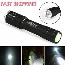 Tactical 5000 Lumen 3Modes Cree XPE LED Flashlight Focus Zoom Torch Super Bright